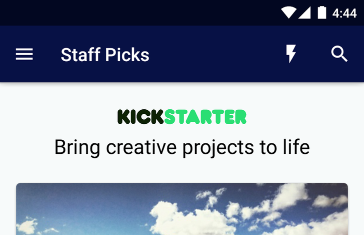 Kickstarter Launches Official Android App—Hopefully Future Updates Aren't Stretch Goals
