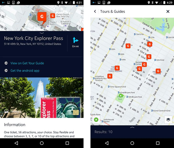 HERE Android Beta Update Tours You Around The City With 'Get Your Guide', Lays Foundation For Future Third-Party Content