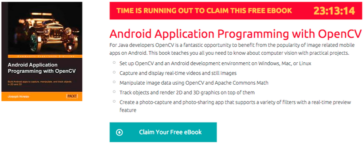 [Freebie Alert] Packt Is Giving Away Android Application Programming With OpenCV, Today Only