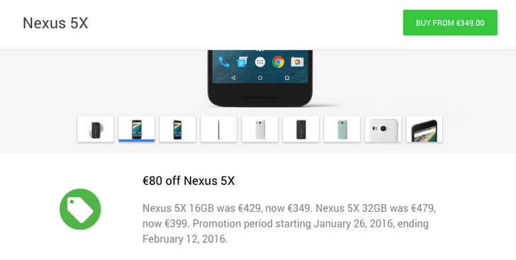 Nexus 6P And Nexus 5X Are €100 And €80 Off, Respectively, Until February 12