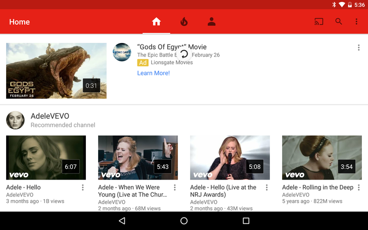 The YouTube Android App's Pull To Refresh Animation Is Now Widely Available