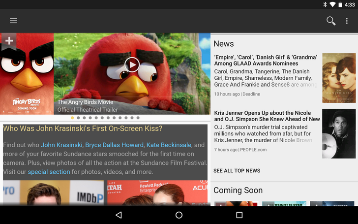 IMDb Android App Gets Material Design Updates To Action Bar, Navigation Menu, Search, And More [APK Download]