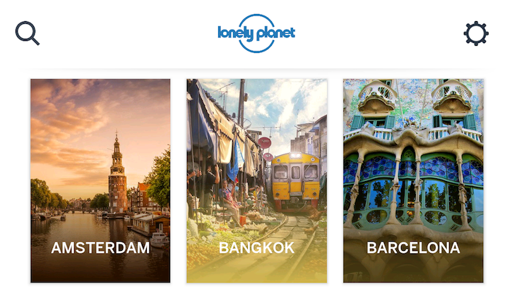 Guides By Lonely Planet Walk Into The Play Store, Maps In One Hand, Booklet Of Tips In Another