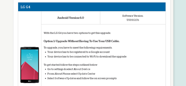 LG G4 On US Cellular Receives Android 6.0 OTA Software Update