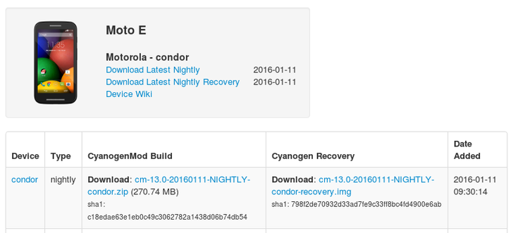 HTC One A9 GSM And Moto E (1st Gen) Get CyanogenMod 13 Nightlies With Android Marshmallow