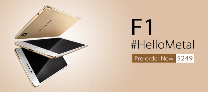 OPPO F1, The First Phone In The New F Series, Is Now Up For Pre-Order In Various Countries