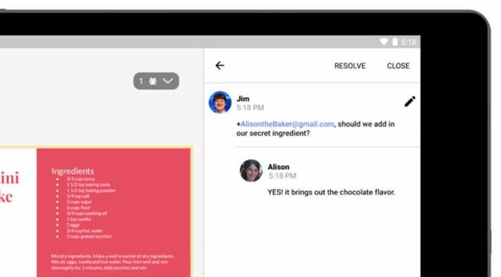 Real-Time Mobile Comments Are Now Supported In Google Docs, Sheets, And Slides Across Both Android And iOS