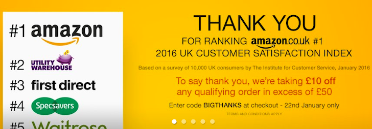 """[Deal Alert] Use Promo Code """"BIGTHANKS"""" To Take £10 Off Any Order Over £50 On Amazon UK"""