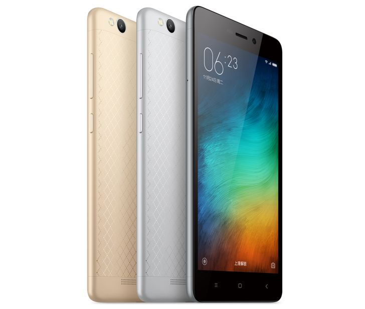Xiaomi Announces The Redmi 3 With A Snapdragon 616, 5-Inch 720p Display, And 4100mAh Battery For About $100