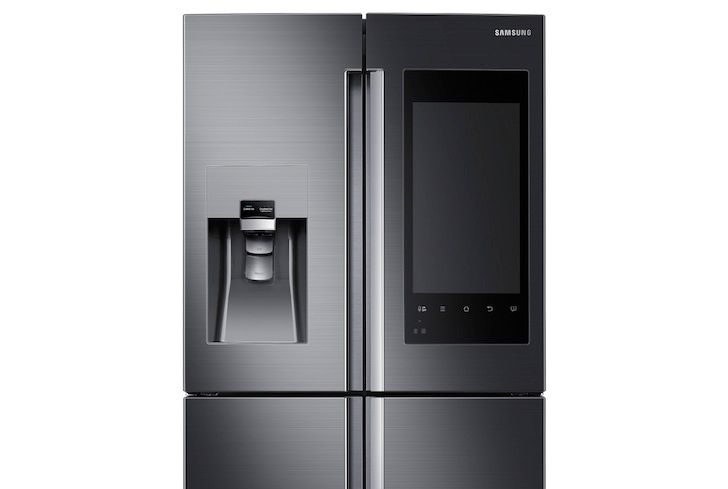 Samsung Made A Fridge With What Looks Like A Gigantic Moto Droid Embedded In The Door