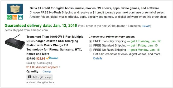 [Deal Alert] Tronsmart's Titan 5 Port QC 2.0 Wall Charger $23.99 After Applying $14 Off Coupon Code