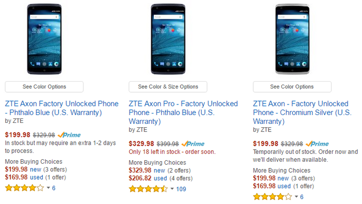 [Deal Alert] ZTE Axon And Axon Pro On Sale For As Much As $130 Off