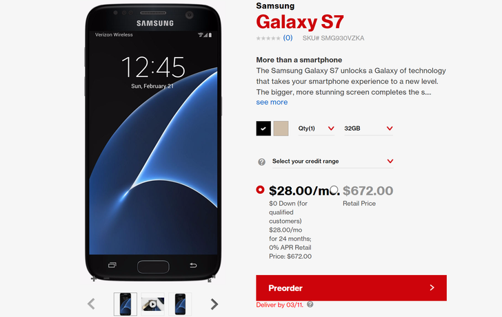 Samsung Galaxy S7 And S7 Edge Pre-Orders Now Live On All Major US Carriers