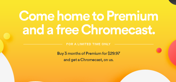 [Deal Alert] Spotify Is Giving Away A Free Chromecast If You Buy 3 Months Of Premium (Plus Latest Update Fixes Marshmallow MicroSD Card Download Bug)