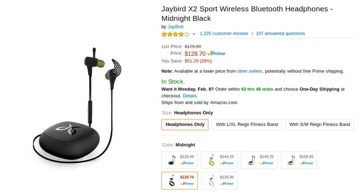 [Deal Alert] Jaybird X2 Bluetooth Earphones Again On Sale On Amazon For Under $130
