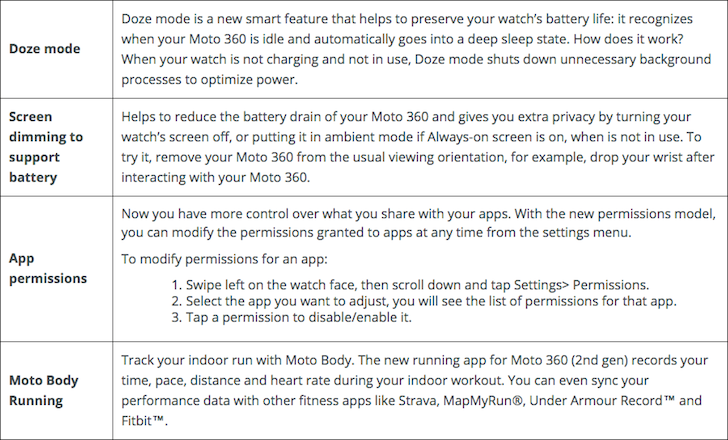 Doze Mode And App Permissions Are Coming To Android Wear, As Seen In The Moto 360 2nd Gen's Marshmallow Release Notes