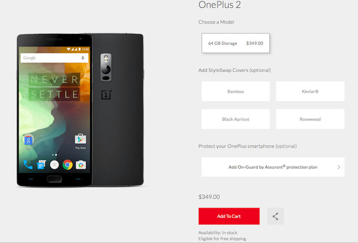 OnePlus 2 64GB Price Permanently Settles Down To $349 ($40 Lower), Refunds Will Be Issued For The Past 15 Days