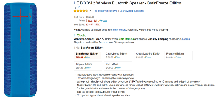 [Deal Alert] Pick Up A UE Boom 2 In Your Choice Of Two Gaudy Colors For Less Than $167