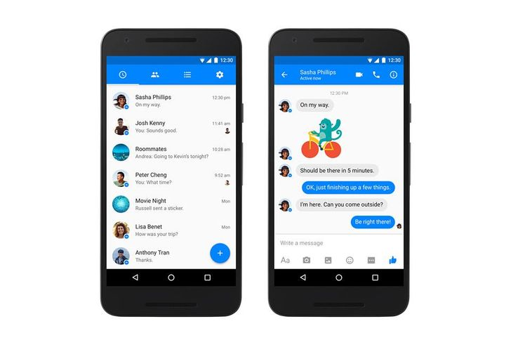Facebook Messenger's Material-Infused Redesign Is Now Official