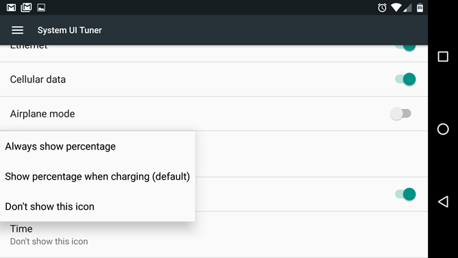 Android N Feature Spotlight System Ui Tuner Expands Status Bar Options With Auto Rotate Status Symbol