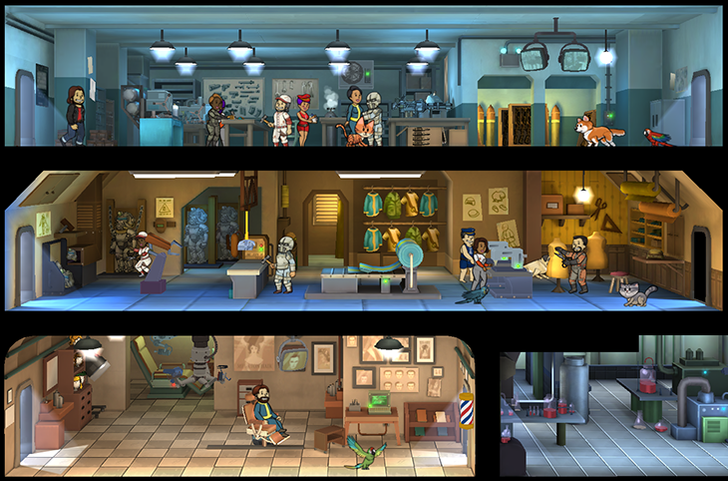 Fallout Shelter Gets A Huge v1.4 Update With Crafting, New Pets, New Rooms, Junk, And More