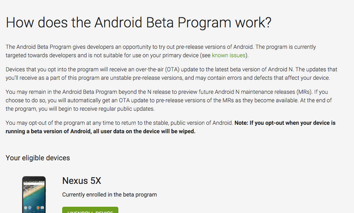 [Update: Android One Too] The Android Beta Page Is Now Up And Running
