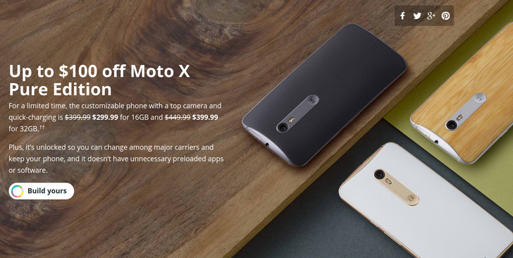 [Deal Alert] Get A Customized Moto X Pure 16GB For $299, 32GB For $399 - $100 And $50 Off Respectively