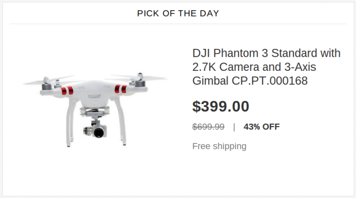 [Deal Alert] DJI Phantom 3 On Sale For $399 On eBay, Half Its Original Price