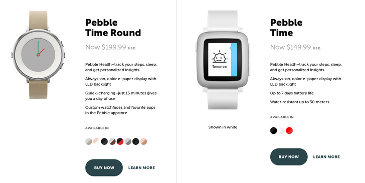 Pebble Drops Price Of The Pebble Time To $149.99, Time Round To $199.99