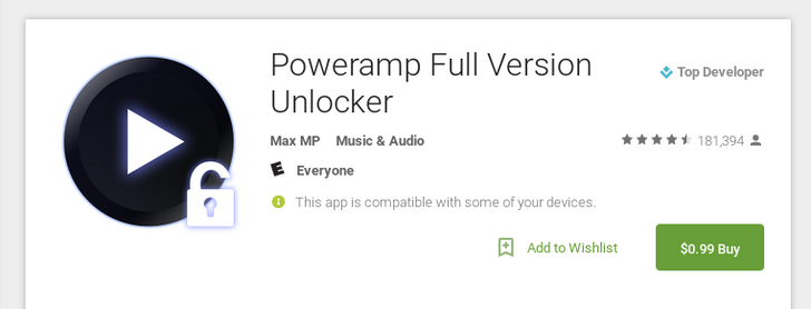 [Deal Alert] Full Version Of PowerAmp Music Player Reduced To 99 Cents