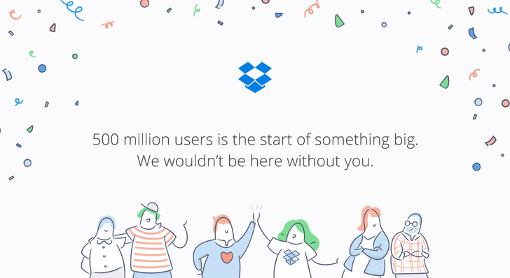 Dropbox Now Has Over 500 Million Registered Users