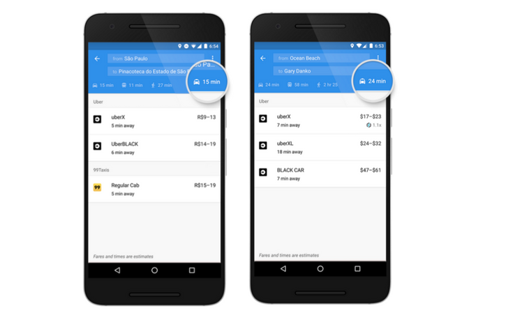 Google Maps On Android Will Now Show A Dedicated Ride-Sharing Tab