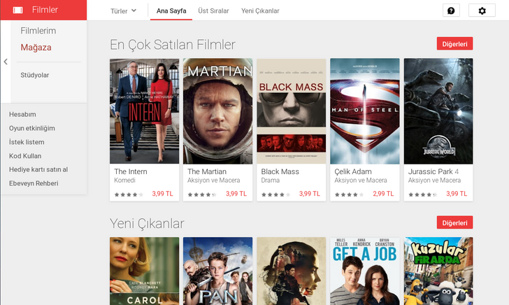 Google Play Movies Launches In Turkey