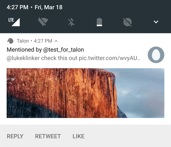 Talon Twitter Client Adds Bundled Notification Support For Android N And Wear