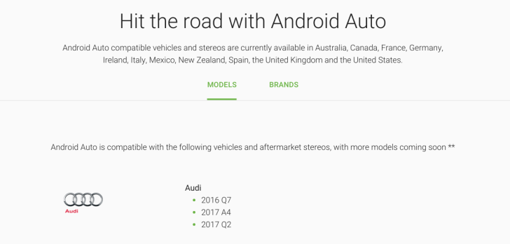 Android Auto Website Finally Lists The Exact Car And Stereo Models That Support It