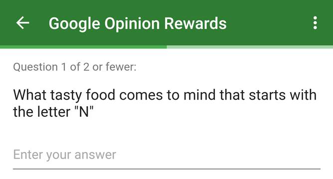 Google Opinion Rewards Is Asking Users About Possible Names For Android N
