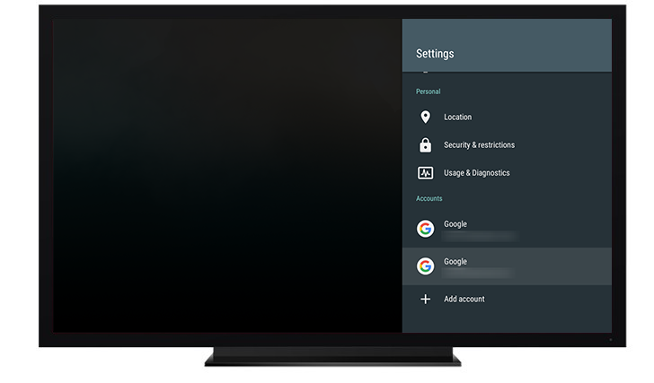 Android N Feature Spotlight: Android TV Has A New Look For The Settings App And Now Supports Multiple Accounts