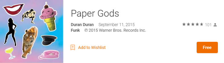 [Deal Alert] Duran Duran's Latest Album 'Paper Gods' Free On Google Play Music (US Only)