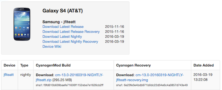 CyanogenMod 13 Nightlies Are Available For The AT&T And Sprint Galaxy S4, Verizon HTC One M9, And Galaxy Note 10.1 LTE