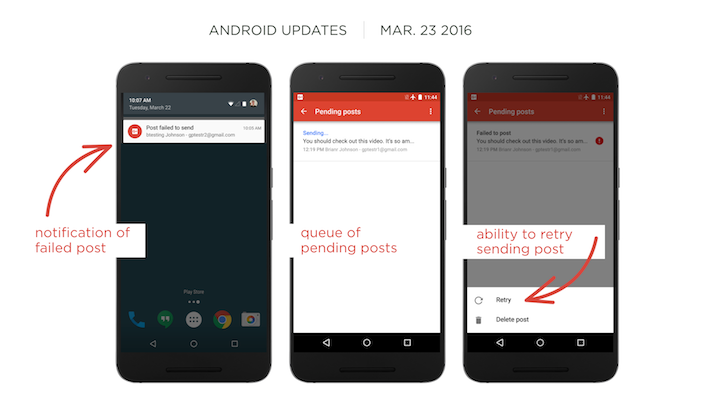 Google+ 7.5 Lets You Retry Sending Failed Posts And Fixes Lots Of Bugs [APK Download]