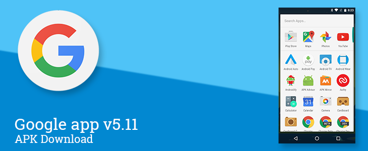 [Update: More Changes Found] Google App v5.11 Tidies Up The App Drawer A Little Bit [APK Download]