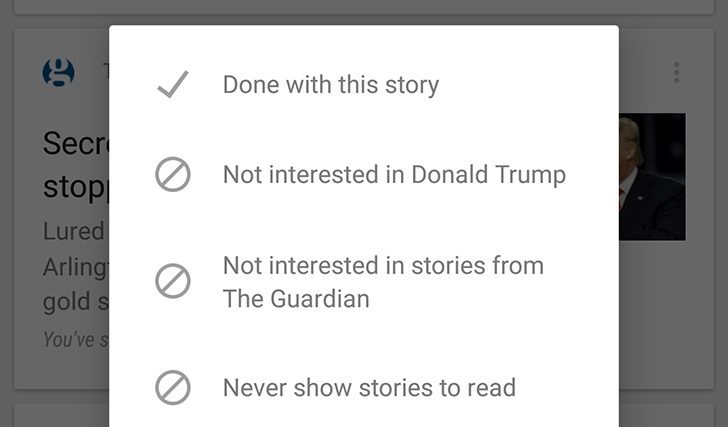 Google Now Lets You Block Cards From Showing Specific News Sources, Not Just Previously Visited Sites