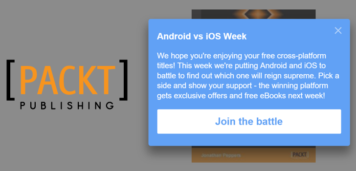 [Freebies And Fighting] Packt Is Kicking Off Android vs. iOS Week With Free Xamarin Cross-Platform Dev eBook And Promises Exclusive Deals To The Winning OS