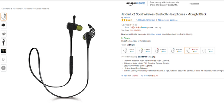 [Deal Alert] Midnight Black Jaybird X2 Wireless Headphones $125 On Amazon, $25 Off - Act Fast, These Price Drops Disappear Quick