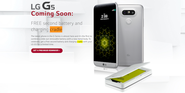 The LG G5 Will Launch In The US In Early April — Free Second Battery And Charging Cradle For A Limited Time