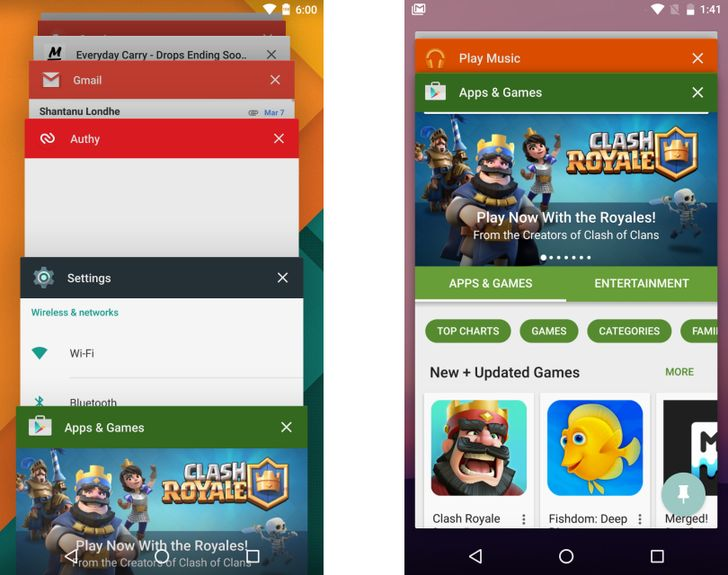Android N Feature Spotlight: Recent App List Now Has Larger Cards, Makes Switching To Previous App Easier