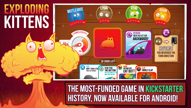 The Oatmeal's Exploding Kittens Card Game Comes To Android