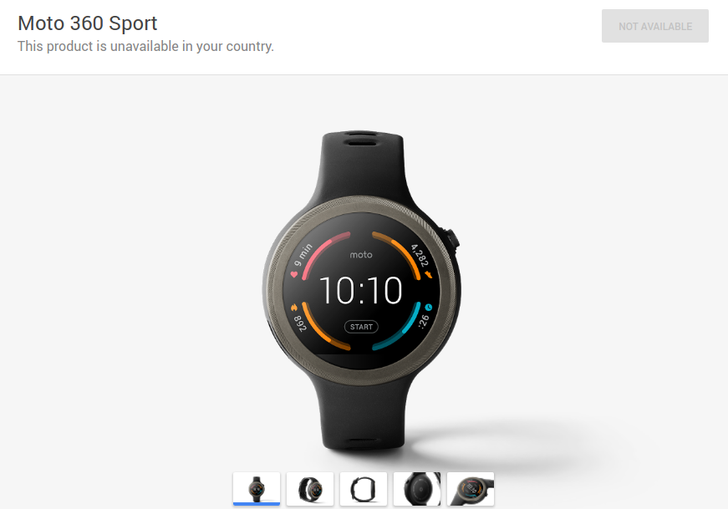 The Moto 360 Sport Is Already Gone From The Google Store