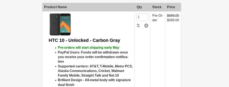 [Deal Alert] Coupon Code Knocks $100 Off HTC 10 Pre-Orders, Brings Price Down To $599.99