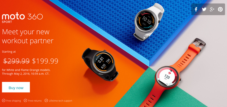 [Deal Alert] Moto 360 Sport On Sale In White And Flame Orange For $199.99, Plus B&H Throws In A $50 Gift Card